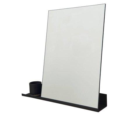 Frama Spiegel Shelf zwart aluminium 50x50cm