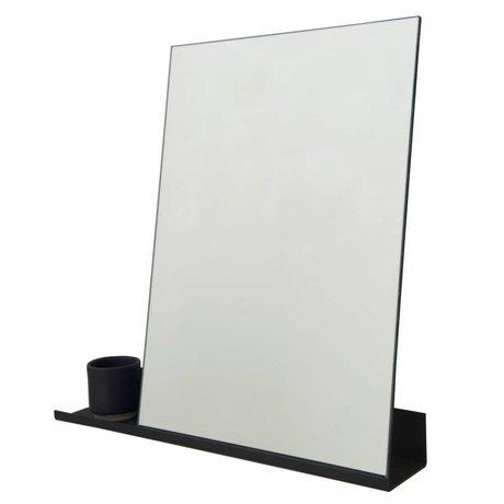 Frama Miroir plateau 50x50cm en aluminium noir