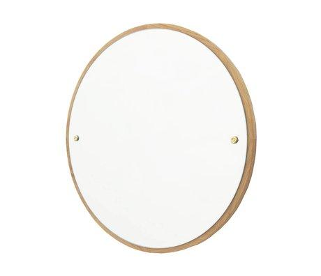 Frama Spiegel CM bruin eiken hout Ø60cm
