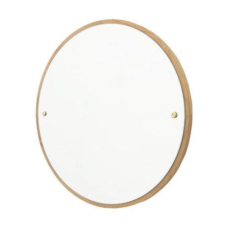 Frama Miroir CM chêne brun bois Ø60cm
