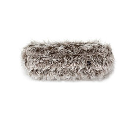 Vetsak Coussin de nouilles Flokati 42xØ16cm polyester gris