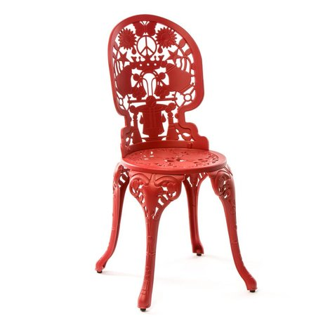 Seletti Industry Chair red aluminum 40x40x92cm