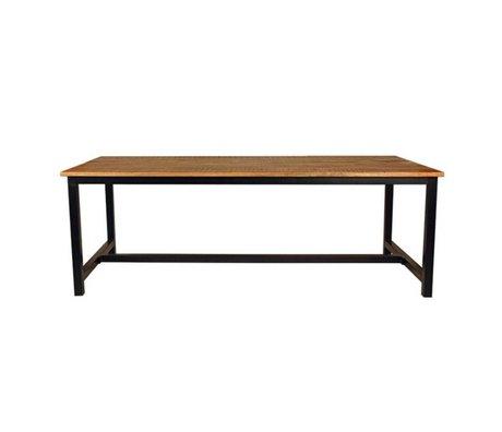 Label51 Table à manger Gand marron noir bois métal en 2 tailles