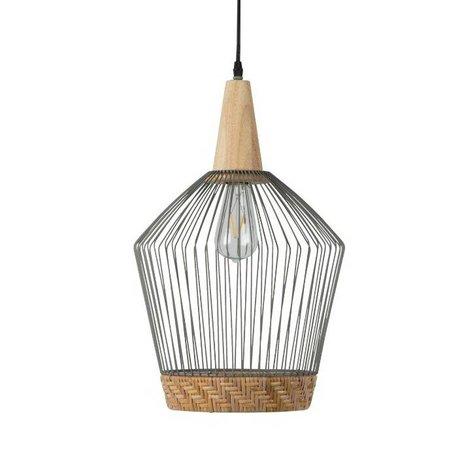 Zuiver Hanglamp Birdy Long, metaal grijs Ø31x48x150cm