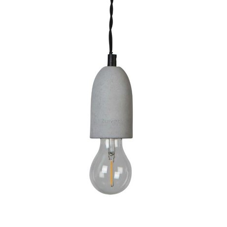 Zuiver Hanging lamp Mach concrete, iron gray 150x10x10cm