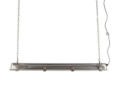 Zuiver Lampe à suspension métallique de nickel gris GTA XL 130x14x10cm