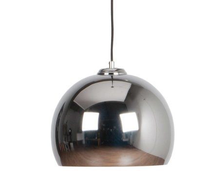Zuiver Big pendant light Glow chrome metal Ø27x21cm