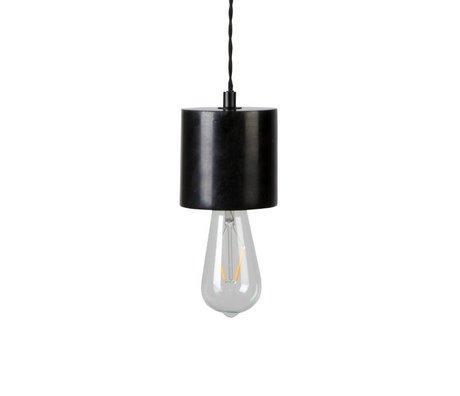 Zuiver Fiducie lampe suspendue marbre noir Ø10x150cm