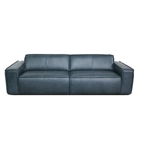 FÉST Sofa Edge 3-seat leather de silva 15004 dark gray leather 254x103cm