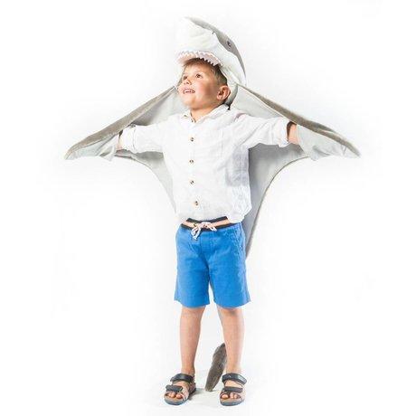 Wild and Soft Shark Verkleidung grau weißer Stoff 102x116x24cm