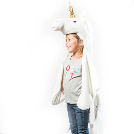 Wild and Soft Disguise Unicorn white gold textile 102x116x24cm