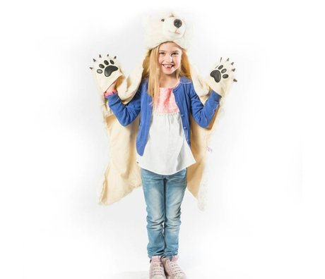 Wild and Soft Disguise Polar Bear White Textile 101x126x20cm