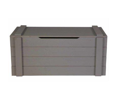 LEF collections Aufbewahrungsboxen 'Dennis' stahlgrau gebürstet Kiefer 42x90x42cm