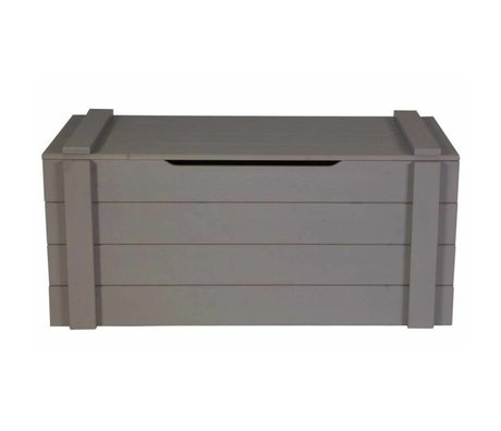 LEF collections Storage boxes 'Dennis' steel gray brushed pine 42x90x42cm