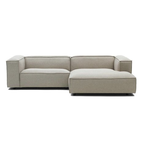 FÉST Bank Dunbar beige Polvere21 1.5-seater and divan left or right