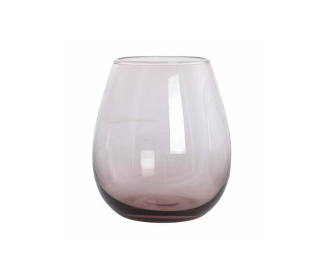 Housedoctor Glass Ball purple glass H: 10 cm