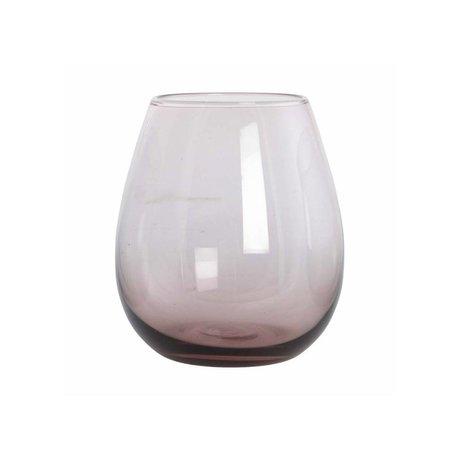 Housedoctor Boule en verre en verre violet H: 10 cm
