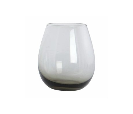 Housedoctor Glass Ball gray glass h: 10 cm