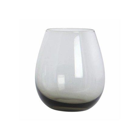 Housedoctor Boule en verre verre gris, h: 10 cm