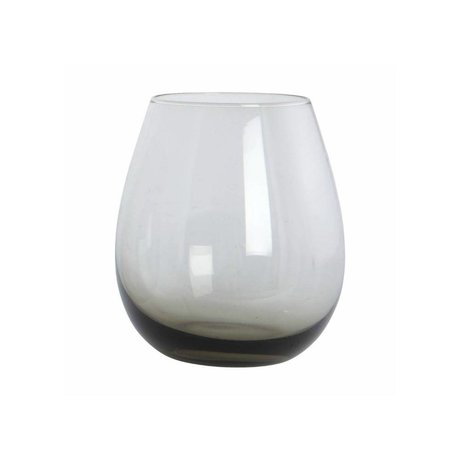 Housedoctor Glas Ball grijs glas h:10 cm