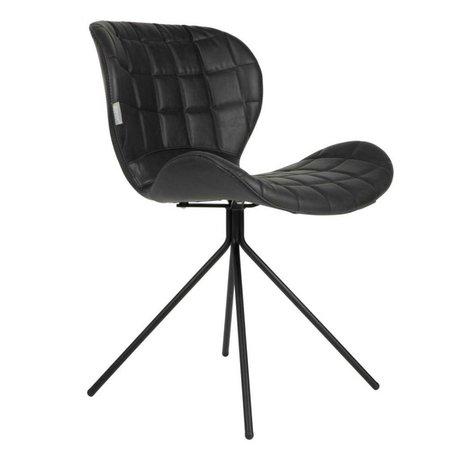 Zuiver Salle à manger chaise OMG LL noir imitation 51x56x80cm en cuir
