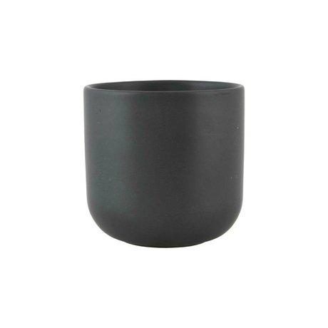 Nicolas Vahe Tasse Nista Ø9x9cm céramique noire