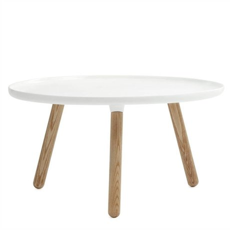 Normann Copenhagen Table de dommages Tablo cendres plastique blanc ø78cm