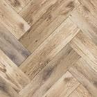 KEK Amsterdam Wallpaper Fishbone floor dark brown fleece paper 97,4x280cm