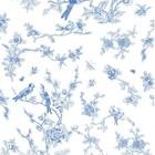 KEK Amsterdam Wallpaper Birds & blossom blue non-woven paper 97,4x280cm