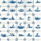 KEK Amsterdam Wallpaper Royal blue tiles blue tissue paper 97,4x280cm