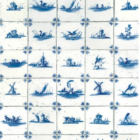 KEK Amsterdam Tapete Königsblau Fliesen Blau Vlies 97,4x280cm