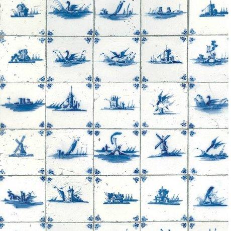 KEK Amsterdam Tapete Königsblaue Fliesen blaues Vlies 97,4x280cm