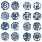 KEK Amsterdam Wallpaper Royal blue plates blue fleece paper 97,4x280cm