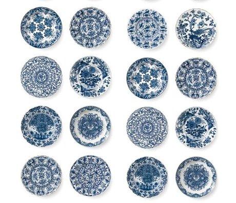 KEK Amsterdam assiettes en papier bleu polaire fond d'écran bleu royal 97,4x280cm