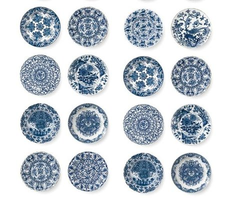 KEK Amsterdam Wallpaper Royal blue plates blue non-woven paper 97.4x280cm