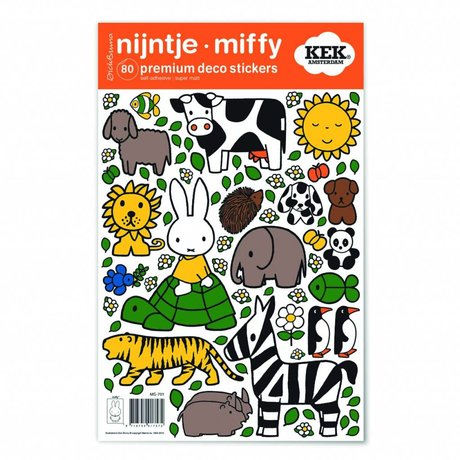 KEK Amsterdam Wandaufkleber Miffy Tierfreunde Mehrfarbenvinylfolie S 21x33cm