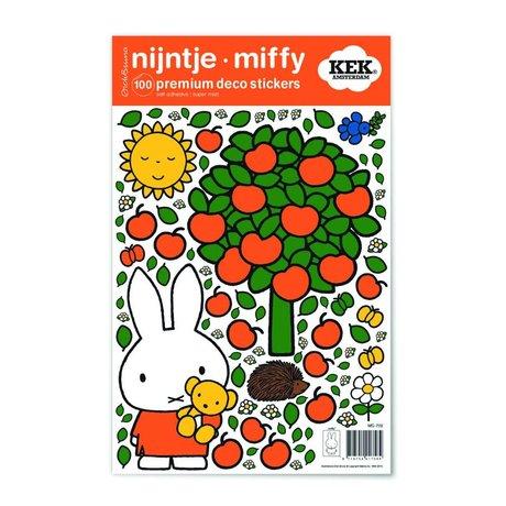 KEK Amsterdam Wall Sticker Miffy pomme feuille de vinyle multicolore S 21x33cm