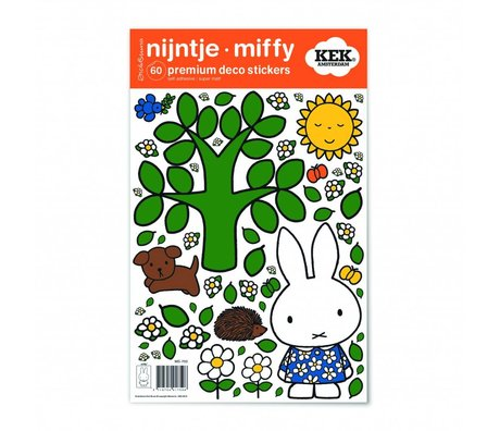 KEK Amsterdam Wall Sticker Miffy grand arbre multicouleur feuille de vinyle S 21x33cm