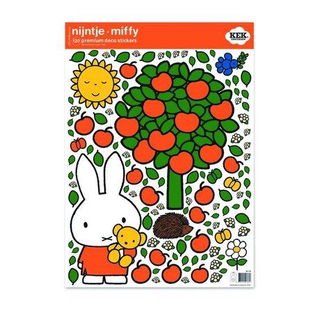 KEK Amsterdam Wandaufkleber Miffy Apfel bunte Vinylfolie M 42x59cm