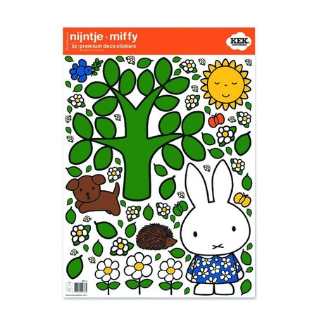 KEK Amsterdam Wall Sticker Miffy grand film vinyle multicouleur arbre M 42x59cm
