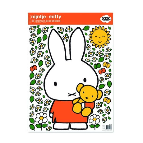 KEK Amsterdam Wall sticker Miffy cuddle bear multicolored vinyl foil M 42x59cm