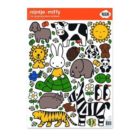 KEK Amsterdam Wall Sticker Miffy amis animaux films vinyle M 42x59cm multicouleur