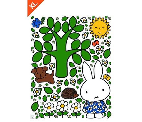 KEK Amsterdam Muursticker Nijntje grote boom multicolour vinylfolie XL 95x120cm