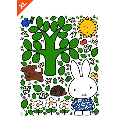 KEK Amsterdam Wall Sticker Miffy grand film vinyle multicouleur arbre XL 95x120cm