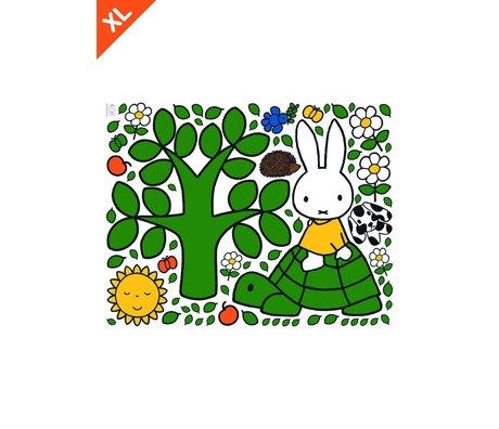 KEK Amsterdam Wandaufkleber Miffy auf einer Schildkröte bunten Vinylfolie XL 95x120cm