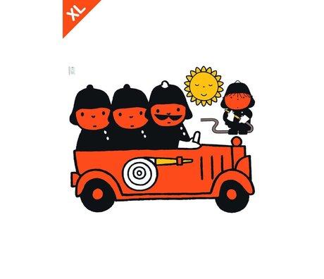 KEK Amsterdam Wall Sticker Miffy Film vinyle multicouleur incendie XL 94x120cm
