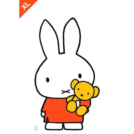 KEK Amsterdam Wall Sticker Miffy Film vinyle multicolore XL 70x120cm