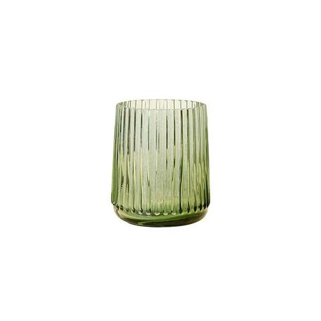 HK-living S Glasvase grün 9,5x9,5x11cm