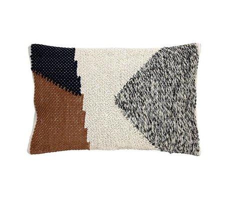 HK-living Kissen verknotet Herbst Baumwolle 40x60cm