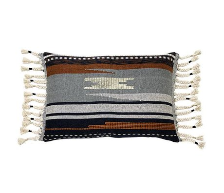 HK-living Cushion Aztec multicolour cotton 50x70cm
